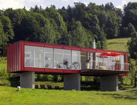 maison-container-pilotis